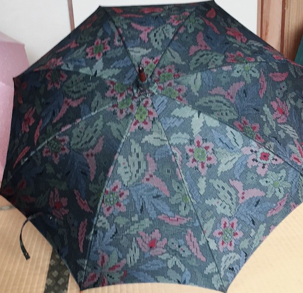 着物リメイク日傘